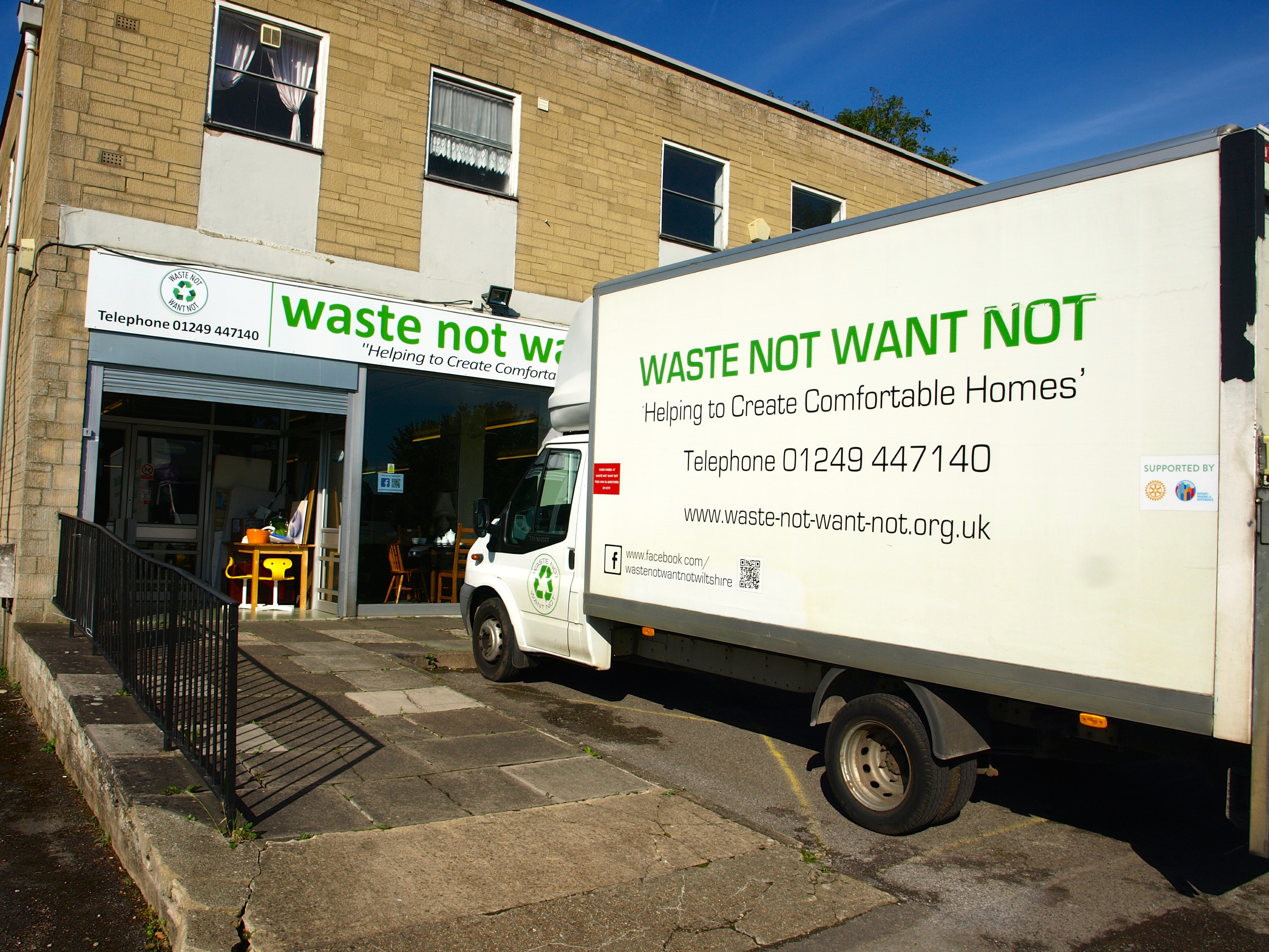 Waste Not Want Not Shopfront and Van